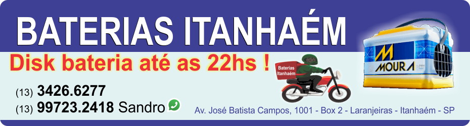 Baterias Itanhaém - Baterias em Peruíbe - Baterias em Mongaguá