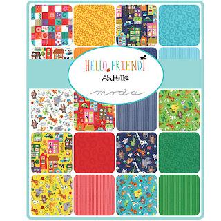 Moda HELLO FRIEND Fabric by Abi Hall for Moda Fabrics