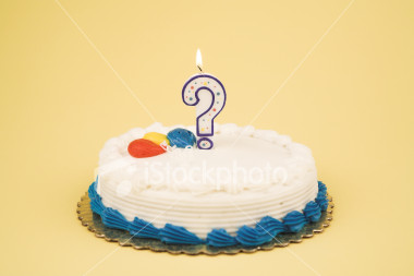 question mark cake