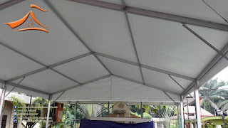 Another 3 blocks of 15 Meter Marquee Tent been installed at Jalan Kebun, Klang on 02/05/2015. This structure will be permanent therefore we have used wall plugs to support it.
