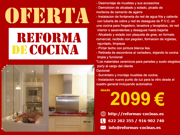 Reformas cocinas en madrid reformas integrales de cocinas - Cocinas por 2000 euros ...