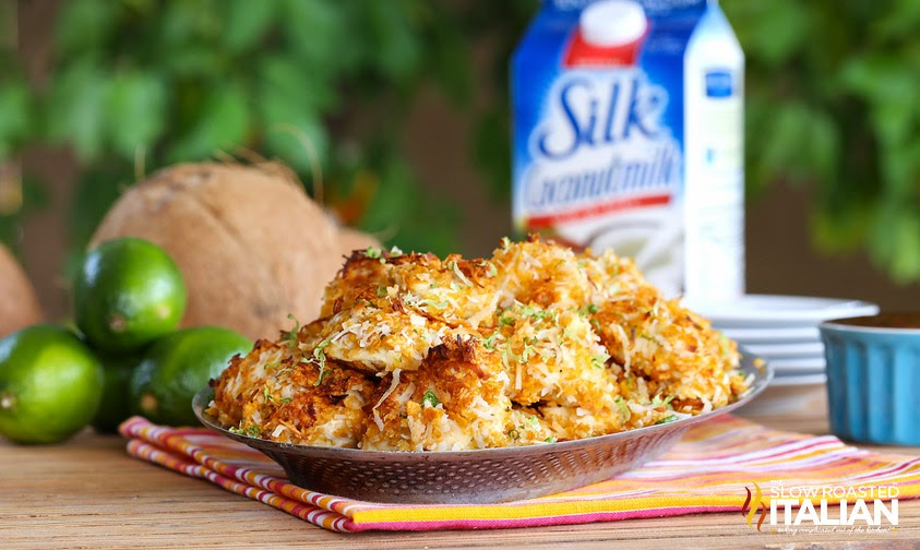 Coconut Lime Chicken Bites #coconutmilk #silk #chicken