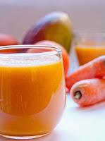 Vitamina de Manga, Laranja e Cenoura (vegana)
