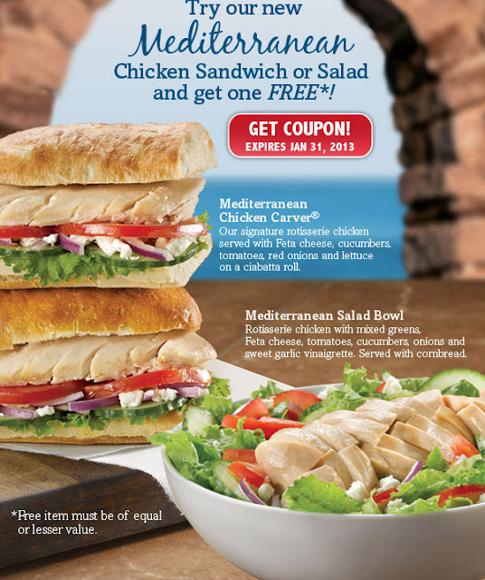 Free is my life freeismylife january 2013 calendar dont you just 131 coupon bogo free boston market mediterranean chicken sandwiches or salad bowls ends 131 fandeluxe Image collections