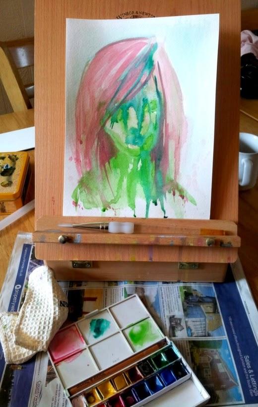 Whoopidooings: Carmen Wing - Watercolour Portrait #SummerofColorFour