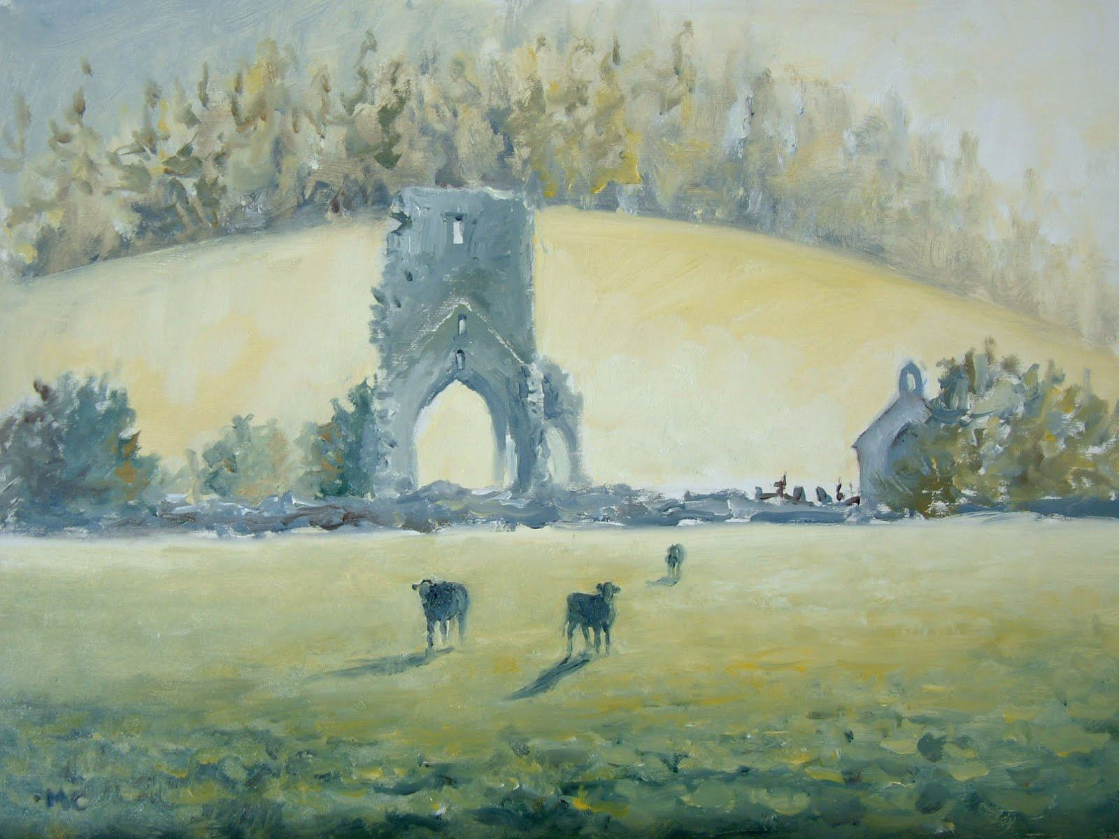 Talley Abbey morning mist