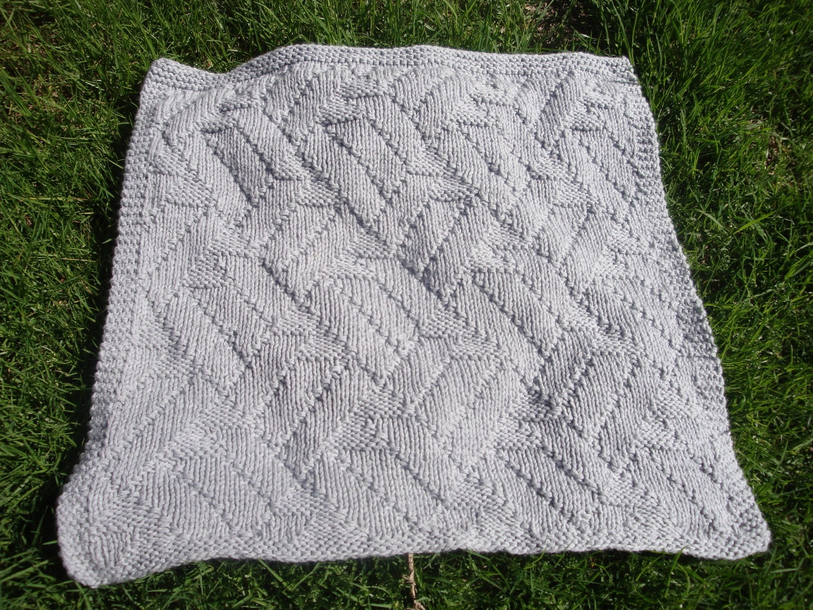 Life As We Know It: Kai\'s Knit Baby Blanket Pattern: Pavilion Stitch