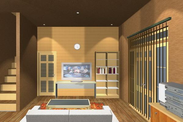 rumahku 1 interior rumah minimalis ruang keluarga