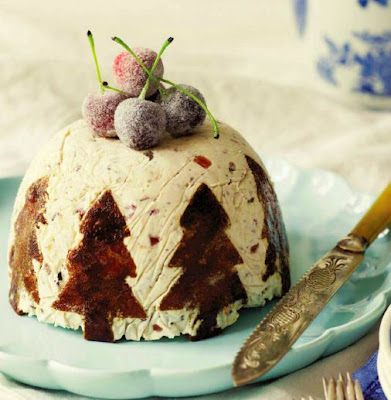 Sticky Ginger, Chocolate and Turkish Delight Christmas Bombe