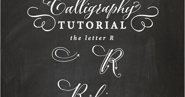 Antiquaria calligraphy tutorial the capital letter quot r