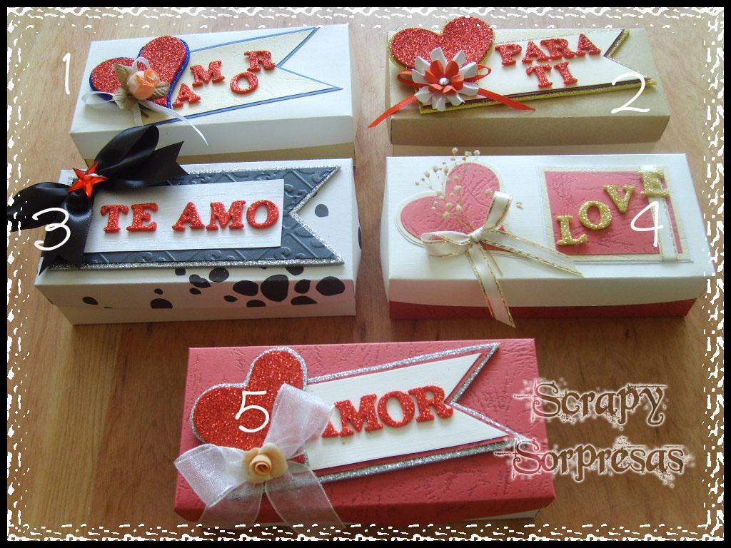Scrapy sorpresas cajitas con chocolates d a de los - Sorpresas para enamorados ...