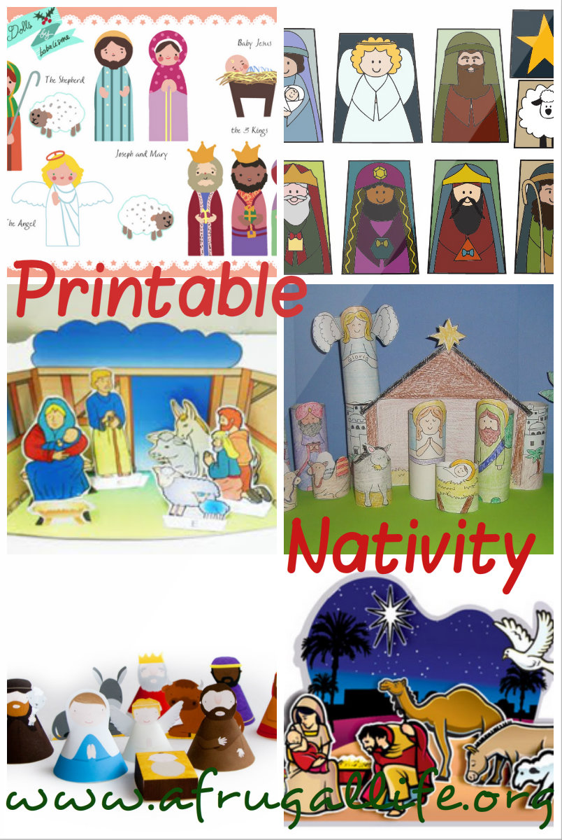 Rhiana Reports: Free Printable Nativity Scenes
