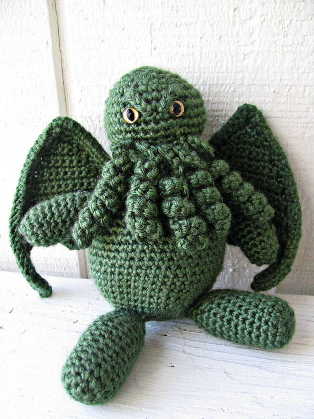April Sprinkles: Cthulhu amigurumi