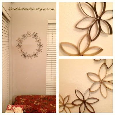 "alt=""Toilet paper roll flower wreath"""