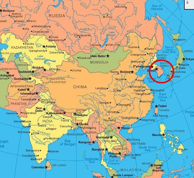 North korea location on the world map north korea map bing images flylikeasegal where in the world gumiabroncs Image collections