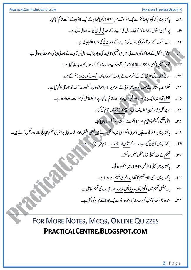 education-in-pakistan-blanks-pakistan-studies-urdu-9th