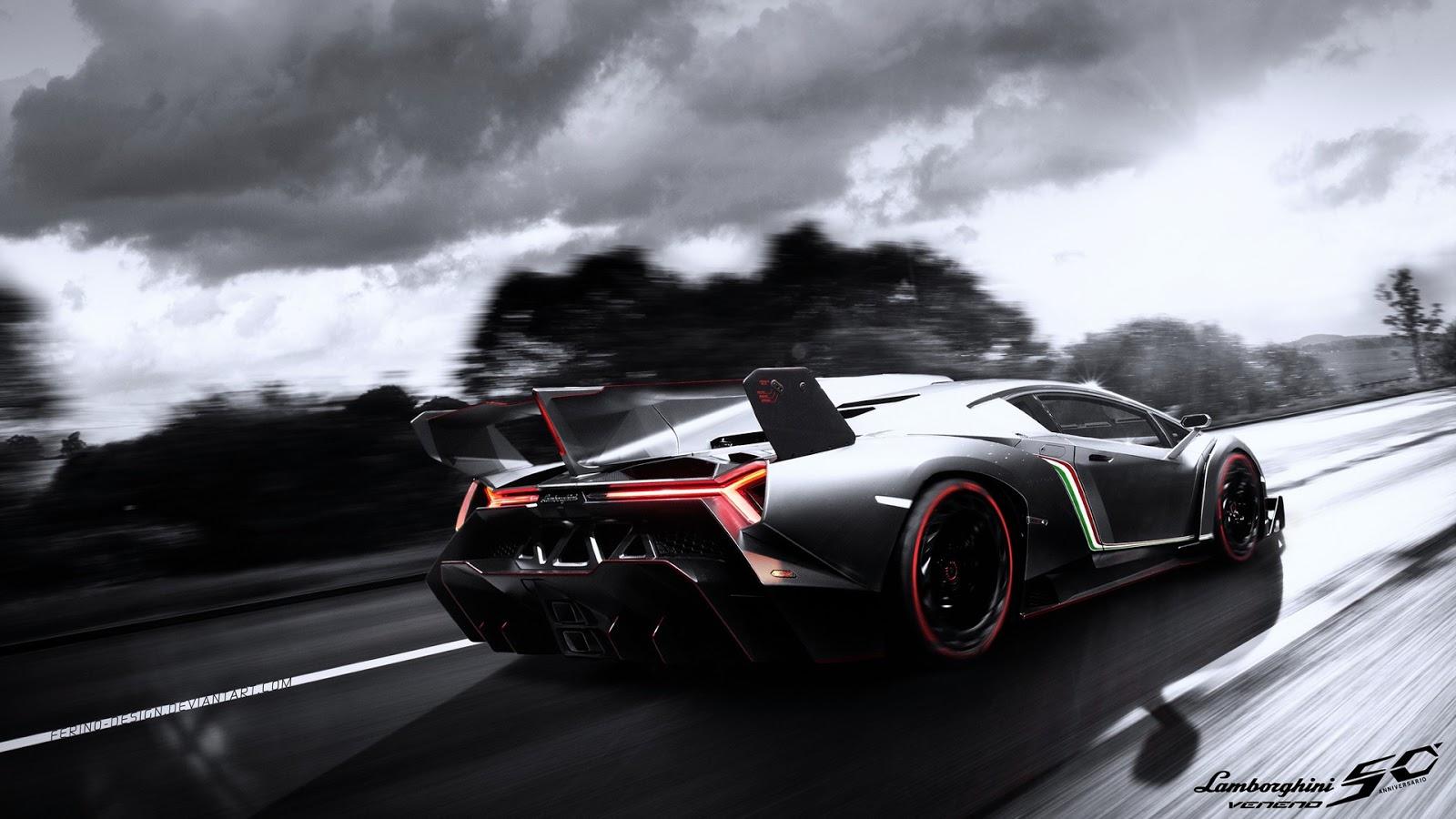 Lamborghini Wallpaper HD Running on Road