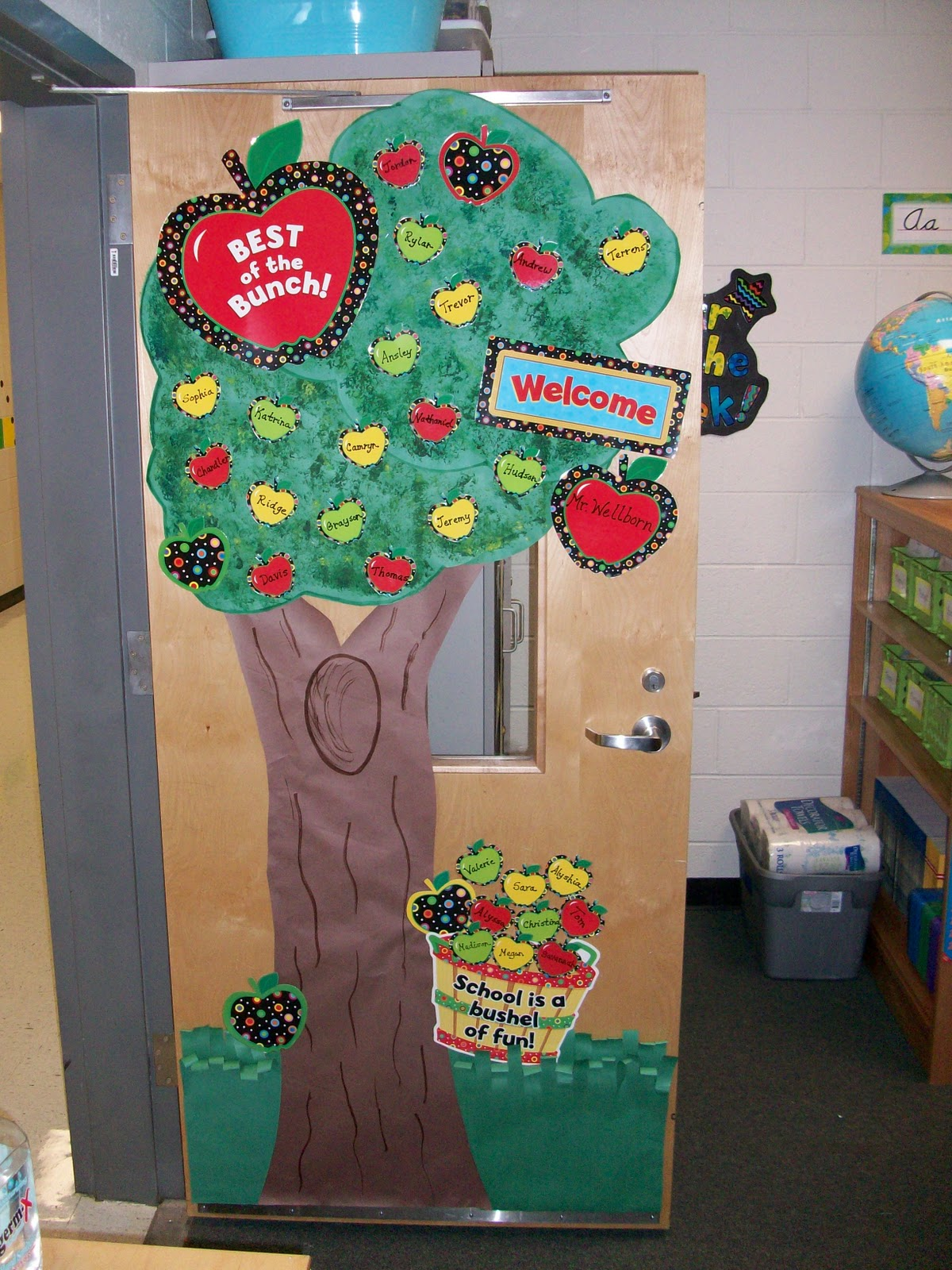 The fifth dimension january 2012 for Apple tree classroom decoration