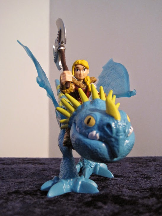 Astrid and Stormfly, close-up.