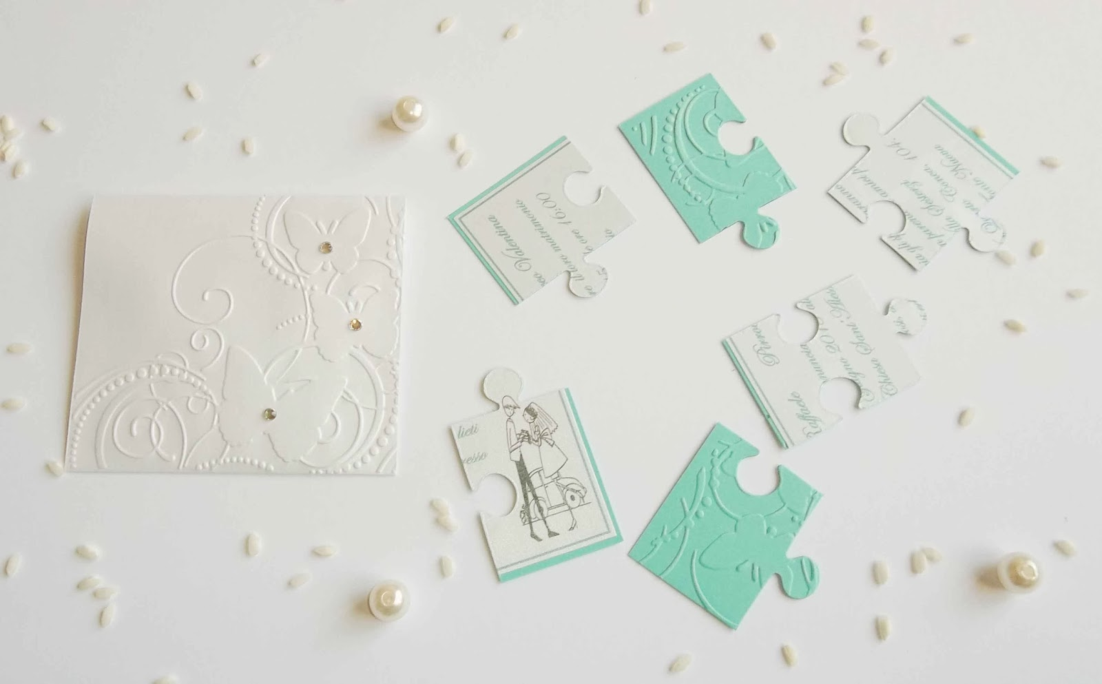 Matrimonio Tema Puzzle : Sara crea partecipazioni a puzzle per matrimoni
