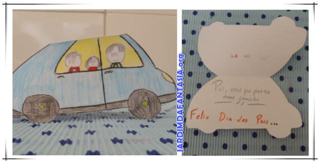 Cartão para Dia dos Pais Criativo em forma de carrinho Rápido e Fácil de Fazer
