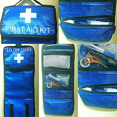 Travel Camping Sport Medical Emergency Survival Outdoor ( First Aid Kit Bag )