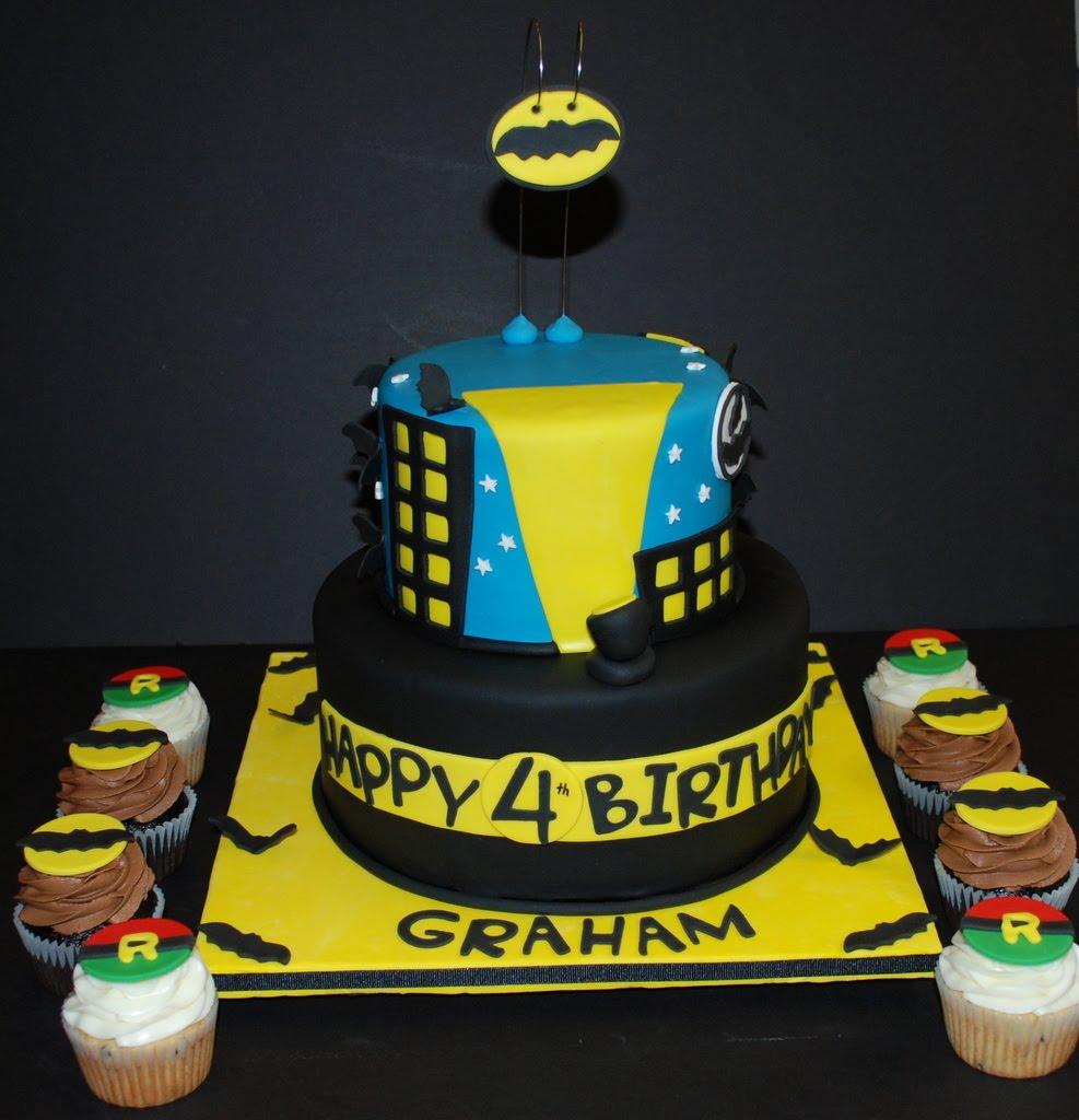 The Bakery Next Door Batman Robin Themed Birthday Cake