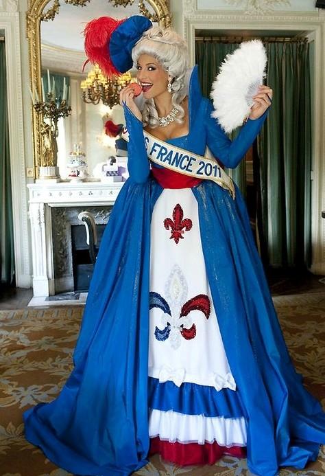 Fanmissmexico algunos trajes tipicos de mu 2011 for Tipico de francia