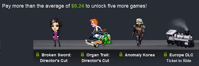 Si donas más de 6,24€ conseguirás los juegos que había antes y estos 4 nuevos juegos.