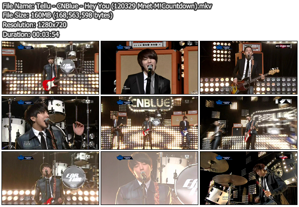 [Perf] CNBlue   Hey You @ Mnet M!Countdown 120329