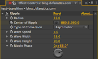 The Ripple Effect Control window in Adobe After Effects.