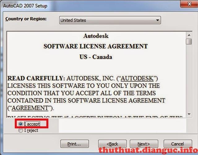 cách cài đặt autocad 2007