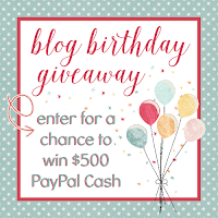 $500 Blog Birthday Bash