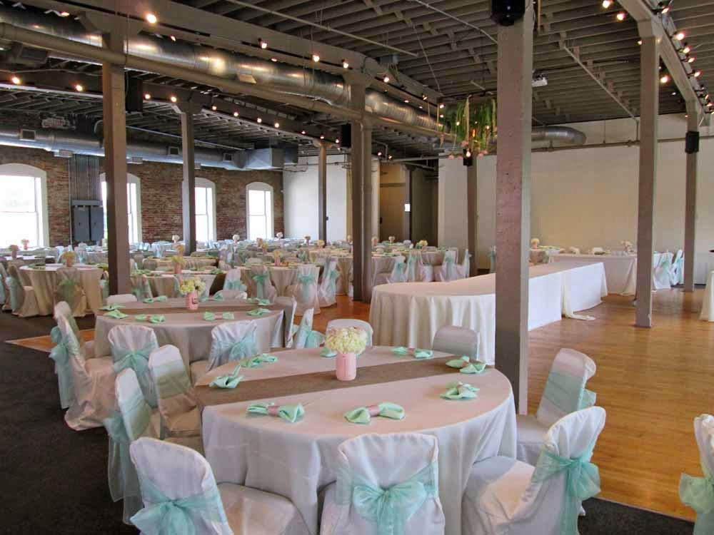 Chair Cover And Tablecloth Rentals Get the Look: Rustic Mint and Blush Wedding Reception | Elite Events ...