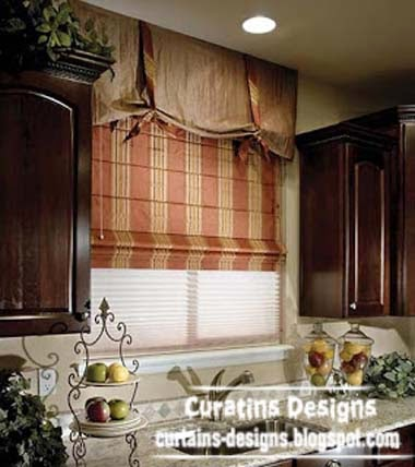10 exclusive roman shades designs for kitchen roman blinds for Kitchen window curtains