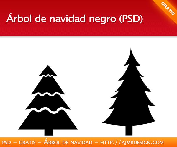 Árbol de navidad negro (PSD)