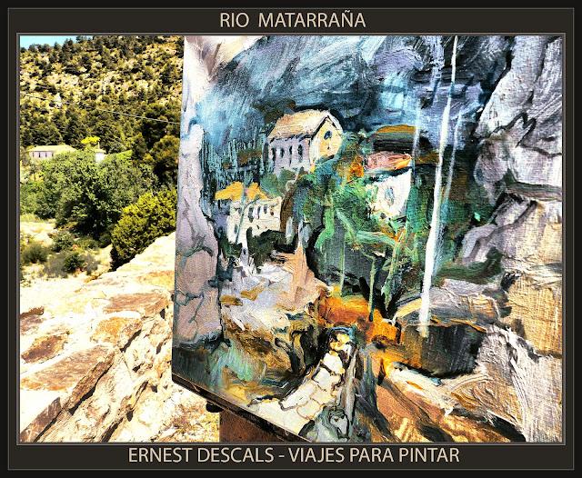 BECEITE-RIO-MATARRANÑA-MATARRANYA-TERUEL-PAISAJES-PINTOR-ERNEST DESCALS-