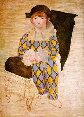 Paul vestido de arlequín de Picasso