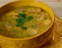 Sopa Cremosa de Grão-de-Bico (vegana)