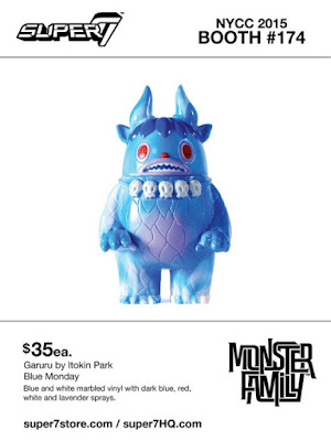 "New York Comic Con 2015 Exclusive Monster Family ""Blue Monday"" Garuru Vinyl Figure by Super7 & Itokin Park"