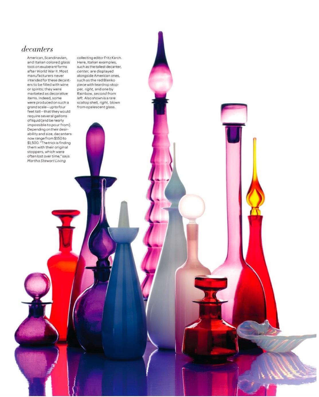 Glass vase with stopper vases sale for Purple wine bottles for sale