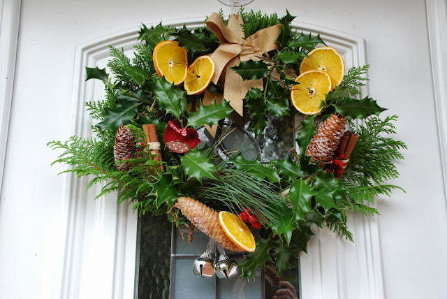image of home made Xmas wreath