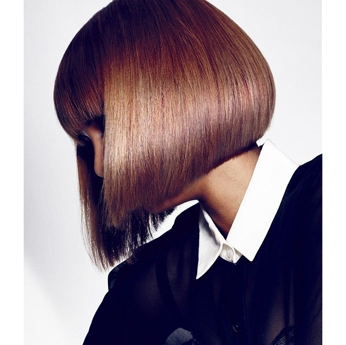 classic a-line bob hairstyle with bangs