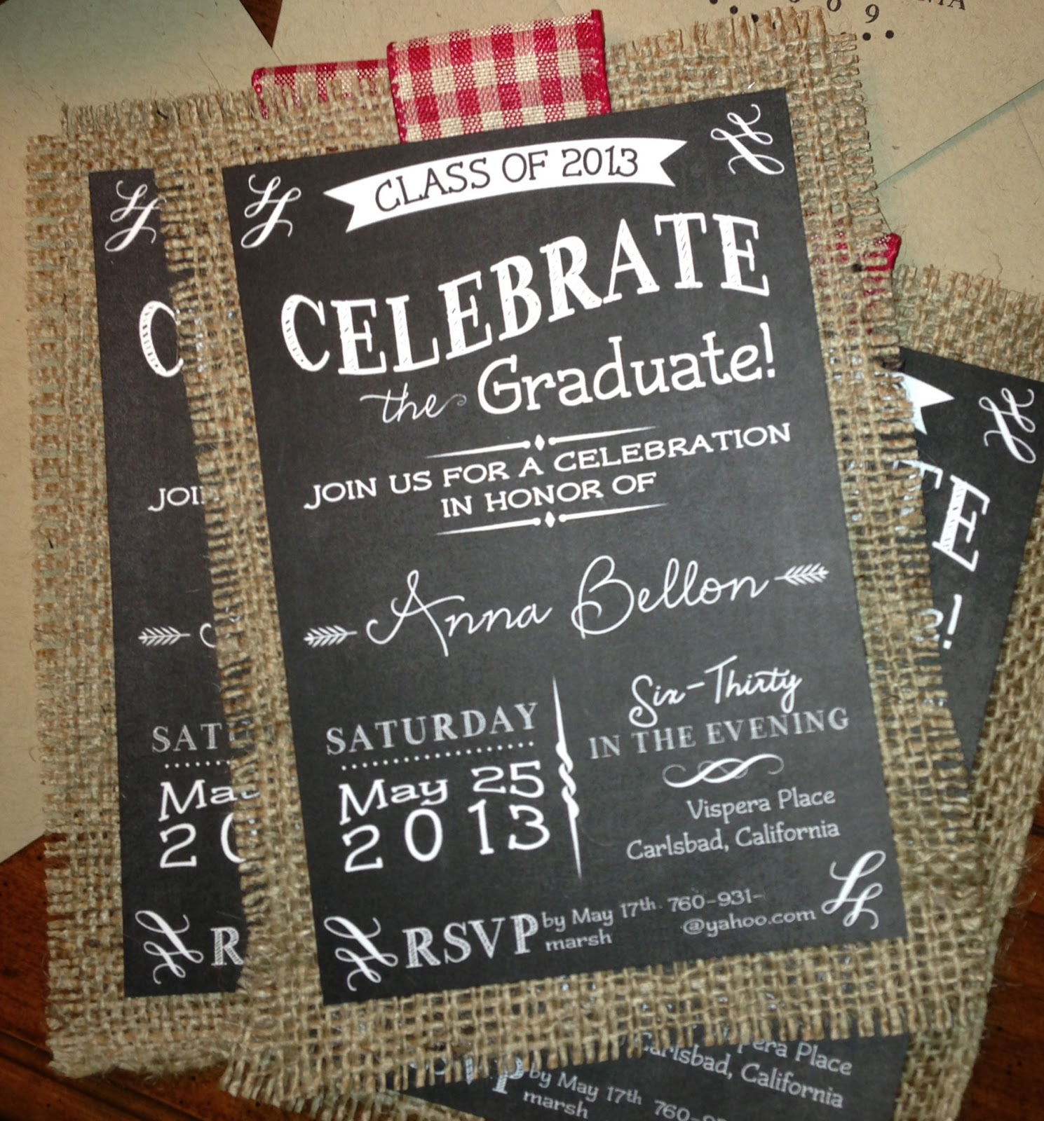 kim grant ink such graduation party chalkboard invitation