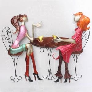 Reunión de mujeres con foto