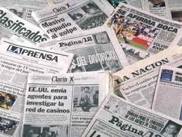 Diarios on line, nacionales, provinciales e internacionales