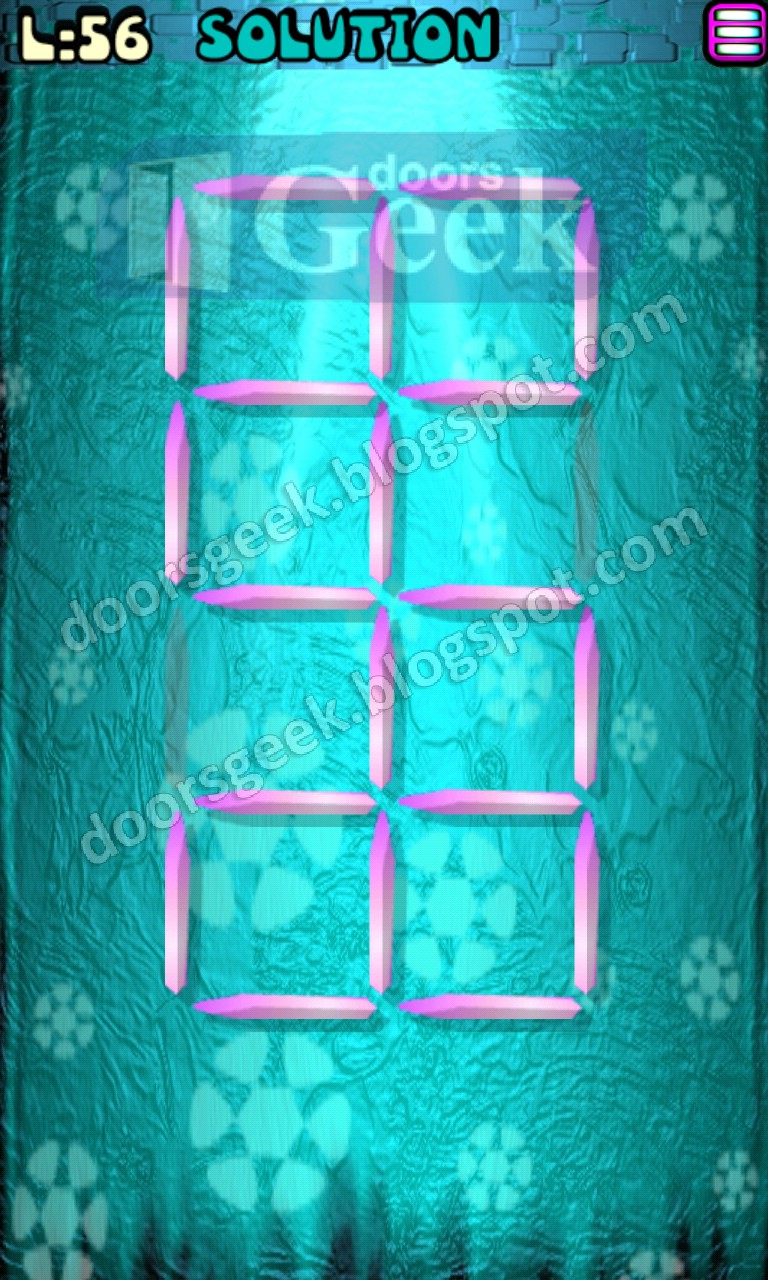 Matches puzzle episode 2 level 56 solution doors geek for 16 door puzzle solution