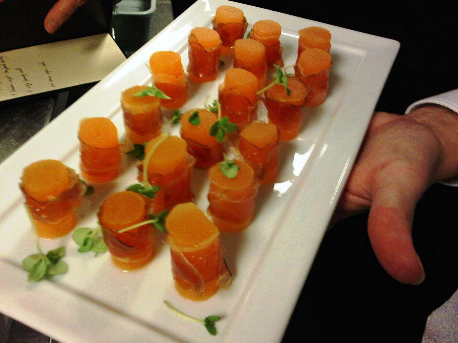 The art of the plate ttc hosts national association of for Prosciutto canape