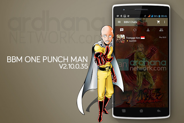 BBM One Punch Man - BBM Android V2.10.0.35