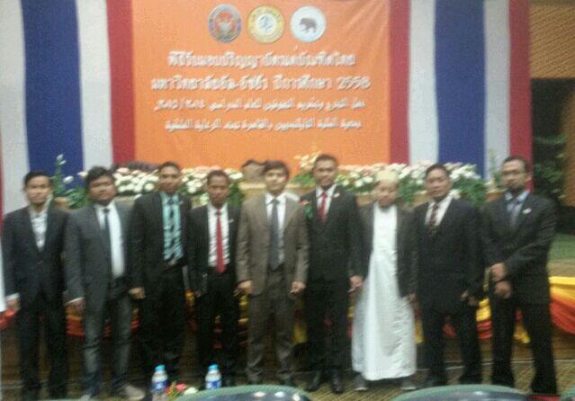 President PPMI Mesir dan Sekjen Menghadiri Wisuda Mahasiswa Thailand